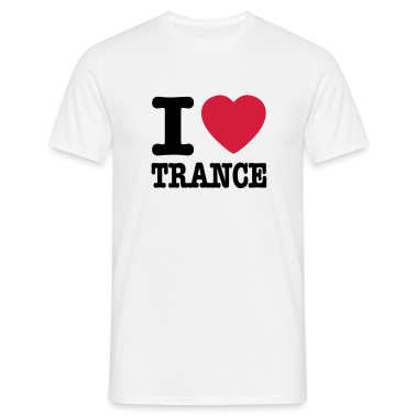 Bianco I love trance / I heart trance T-shirt