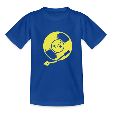 Blu royal DJ vinyl LP (1c) T-shirt bambini