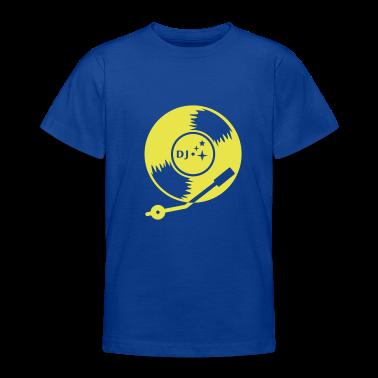 Blu royal DJ vinyl LP (1c) T-shirt bambini