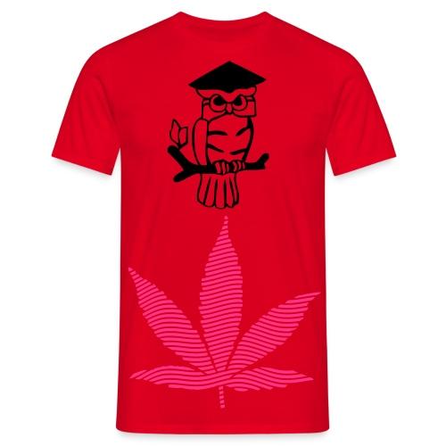 weed owl - T-skjorte for menn