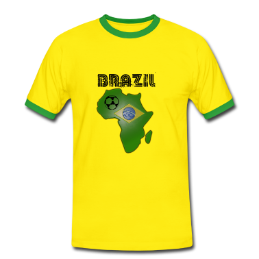 Yellow/green Brazil in Africa Men's T-Shirts