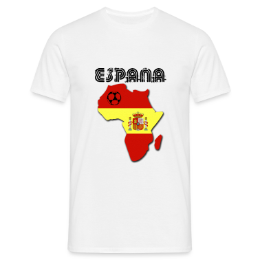 White Espana in Africa Men's T-Shirts