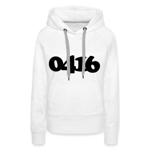 Women: 0416 black sweater - Vrouwen Premium hoodie