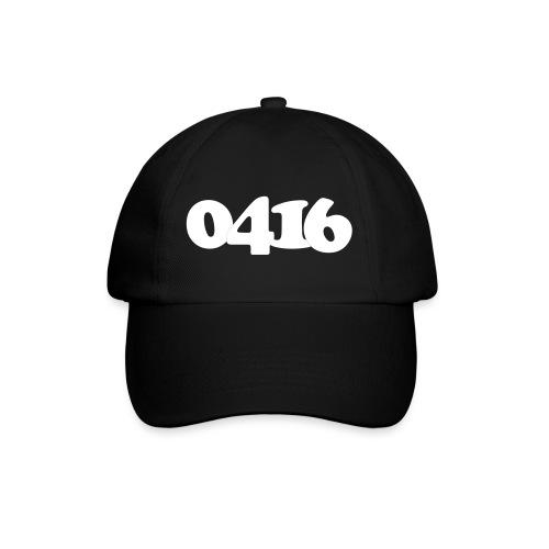 Unisex: 0416 white cap black - Baseballcap