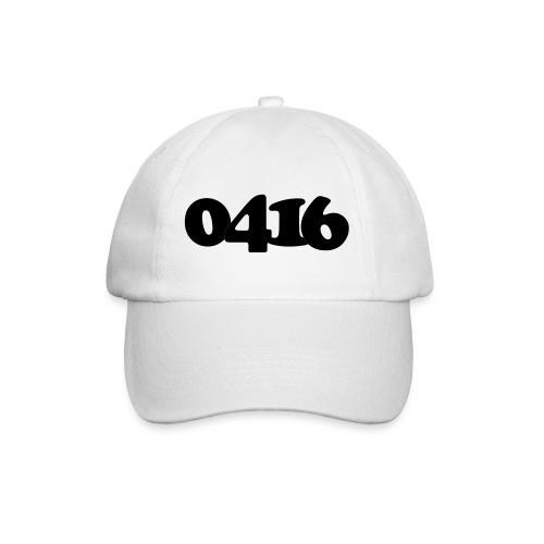 Unisex: 0416 black cap white - Baseballcap