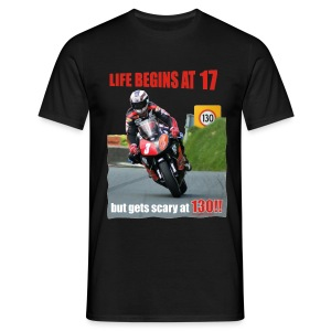 Life begins at 17 (R7) - Men's T-Shirt