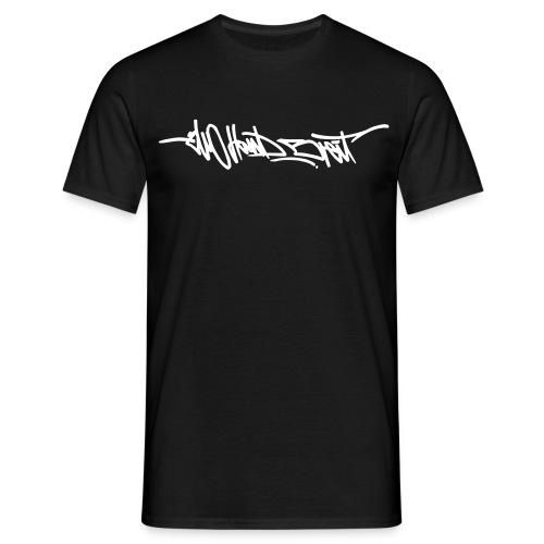 Logo Shirt - White Print - Männer T-Shirt