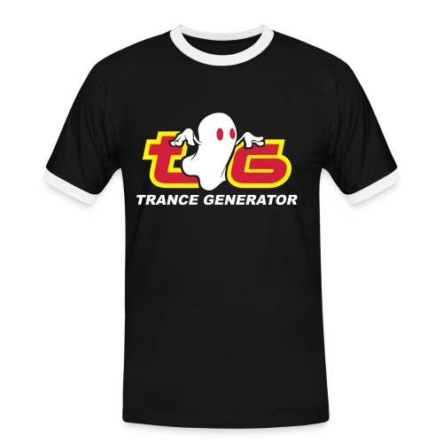 TG T-SHIRT CONTRAST MEN BLACK - Men's Ringer Shirt