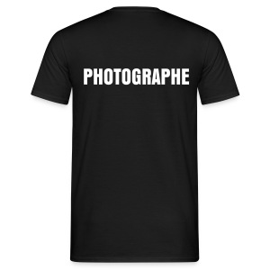 T-Shirt Photographe - Inscription au dos - T-shirt Homme