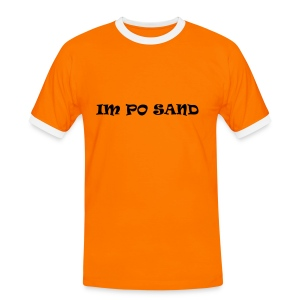 IM PO SAND + Beach-Volley backprint - Männer Kontrast-T-Shirt