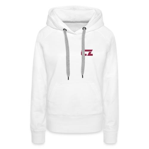 CZ-Audio Women's Hoodie (White/Dark red) - Women's Premium Hoodie