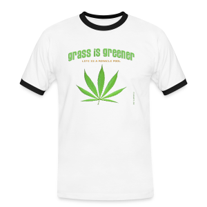 grass is greener - Männer Kontrast-T-Shirt