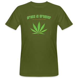 grass is greener - Männer Bio-T-Shirt