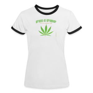 grass is greener - Frauen Kontrast-T-Shirt