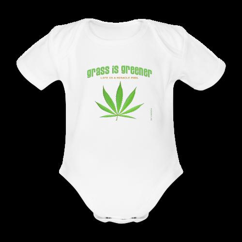 grass is greener - Baby Bio-Kurzarm-Body