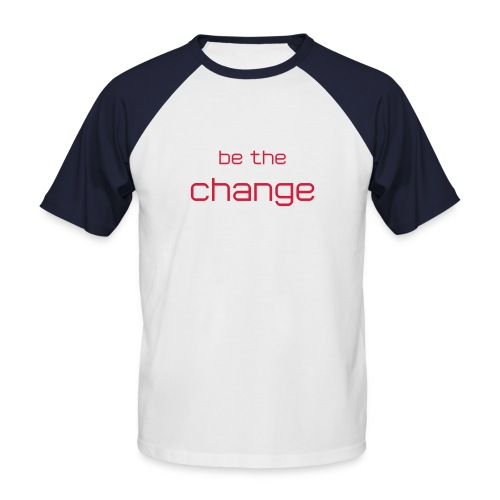 'Change' Red - Men's Baseball T-Shirt