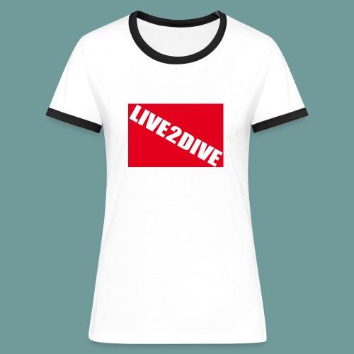TS L2D F - T-shirt contrasté Femme