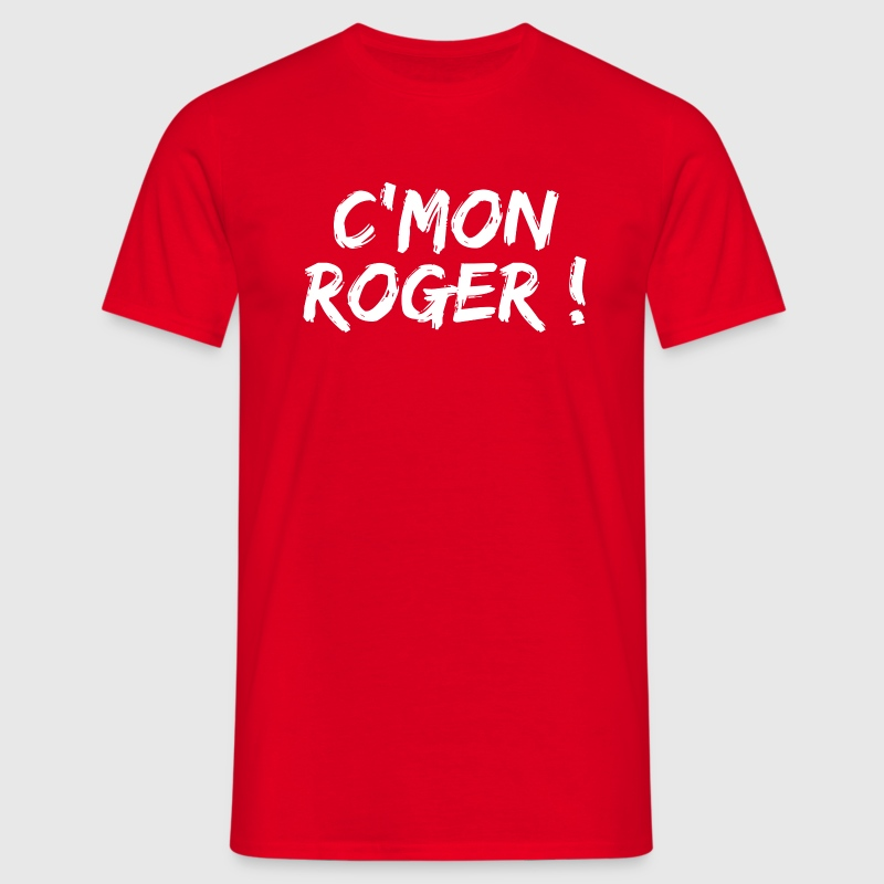 Rouge come on roger T-shirts - T-shirt Homme