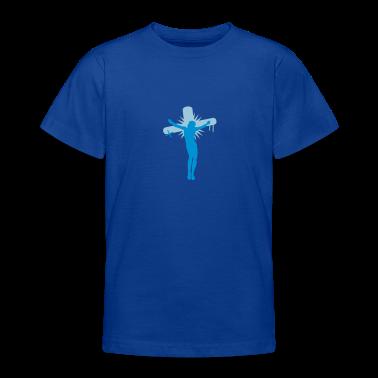 Royal blue Jesus on the cross Kids' Shirts
