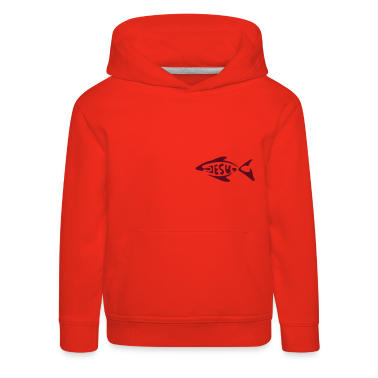 Red jesu_fish Kids' Tops