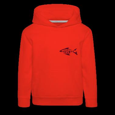 Red jesu_fish Kids' Tops