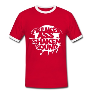 Freaken Ass Shaken Footbalshirt red/white - Männer Kontrast-T-Shirt