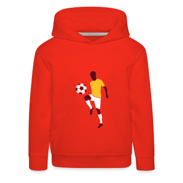 Red Football player with football Kids' Tops