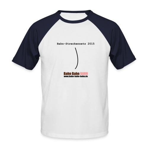 Streckennetz - Männer Baseball-T-Shirt