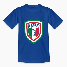 Royal blue scudetto_italia1 Kids' Shirts