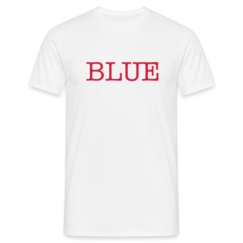 Men - Blue in Red - Men's T-Shirt