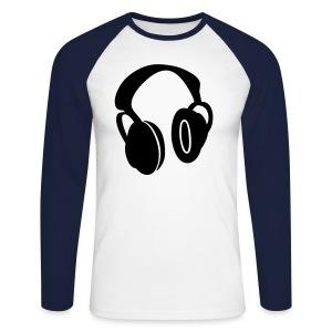 Headphones - Men's Long Sleeve Baseball T-Shirt