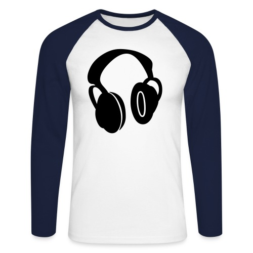 Headphones - Men's Long Sleeve Baseball T-Shirt