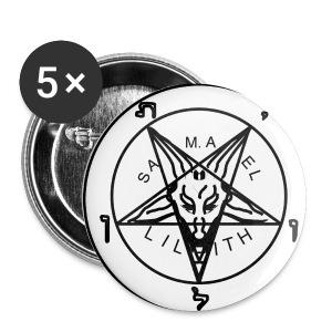 Przypinka Duża Pentagram - Przypinka duża 56 mm