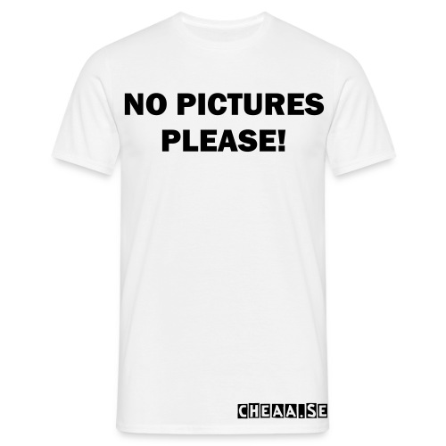 CHEAA NO PICTURES PLEASE - T-shirt herr