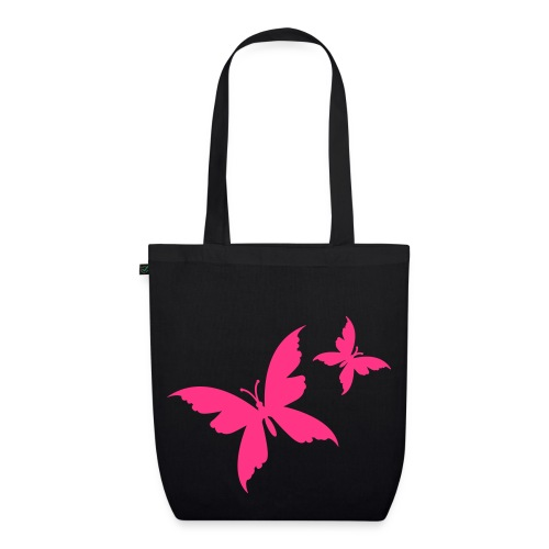 butterfly black/pink organic bag - EarthPositive Tote Bag