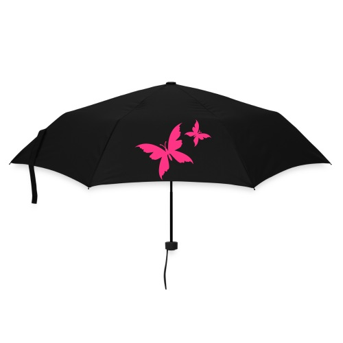 butterfly black/pink umbrella - Umbrella (small)
