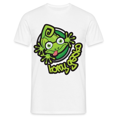 01 Horny Gecko Logo - Men's T-Shirt