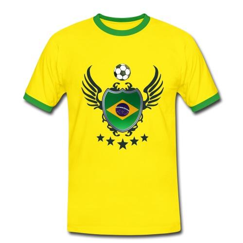 -Shirt (Brasilien) - Männer Kontrast-T-Shirt