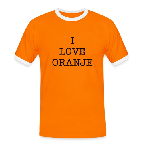 Fan-shirt Oranje Plus - Mannen contrastshirt