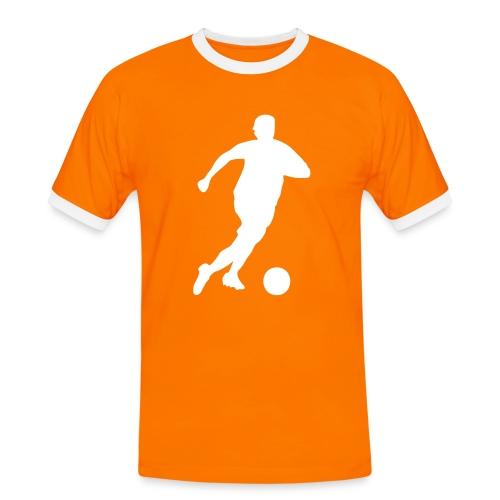 Fan-shirt Oranje Voetballer - Mannen contrastshirt
