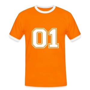 Number one voetbal - Mannen contrastshirt
