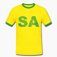 Geel/groen South Africa T-shirts