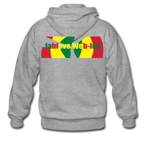Men: JahLove.Web-Log 2 jack - Men's Premium Hooded Jacket