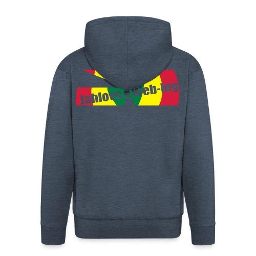 Men: JahLove.Web-Log 1 jack - Men's Premium Hooded Jacket
