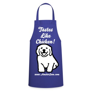 'AmsterSam' Apron 'Tastes like Chicken!' Dog.  - Cooking Apron