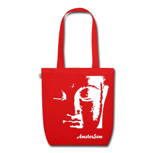'AmsterSam Meditation' Tote Bag Red/White.  - EarthPositive Tote Bag
