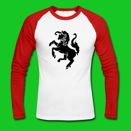 Twente herensweater rood-wit - Mannen baseballshirt lange mouw