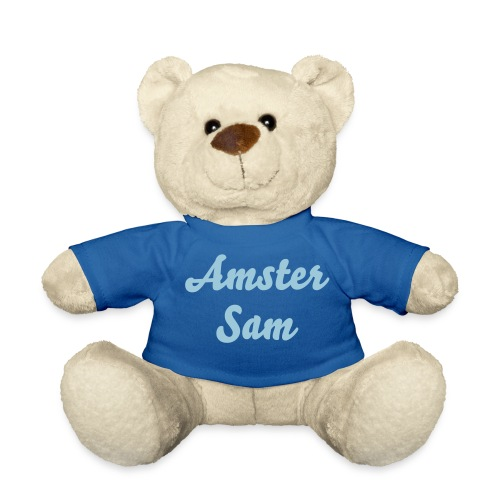 Teddy Bear 'AmsterSam' Blue.  - Teddy Bear
