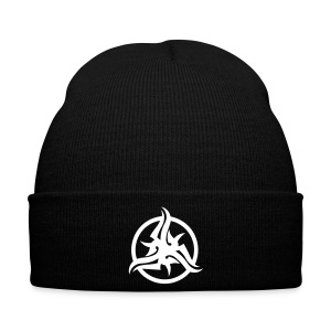 Black Tribal Beanie - Winter Hat