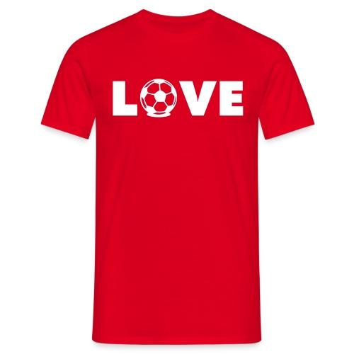 Love Football T-Shirt - Men's T-Shirt